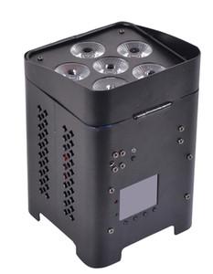 vendita calda 6 * 12 w rgbwa + uv 6in1 led par luce della batteria con controllo dmx512 wireless per dj evento mostra