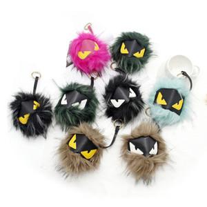 Piccolo mostro borsa ciondolo Borse Pelliccia Portachiavi Imitazione pelliccia di procione Accessori palla Accessori Ornamenti 8 colori