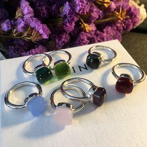 2020 Top brass material paris design кольцо с природным нефритом и Цирконом украшает одиночное кольцо jewelryPS6405