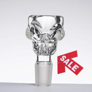 GROßE Größe Schädel-Art-Kraut-Halter-Glasschüssel-bunter 14mm 18mm Mann für Glasbong-Wasser-Rohr