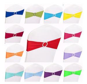 15 x 35CM multi color spandex telai della sedia di nozze elastico removibile con decorazione fibbia diamantata rotonda