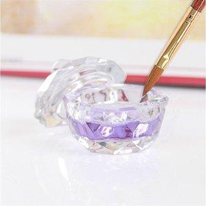 네일 아트 아크릴 크리스탈 유리 Dappen 요리는 그릇 컵과 뚜껑 액체 반짝이는 분말의 캐비어 라운드 무료 배송 50