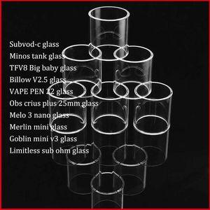 Subvod-c Minos Billow V2.5 VAPE PEN 22 Obs Crius Plus Melo 3 Nano Merlin Mini Goblin Mini v3 Pyrex Replacement Glass Tube