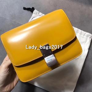 mini caja clásica Bolsas cartero de la vendimia del queso de soja Bag Lady bolsos de cuero bolso real de bloqueo de la tela escocesa bolsas de mensajero de cadena Crossbody totalizadores
