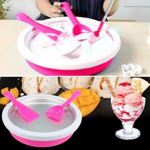 Çocuklar Için kızarmış Buz Küpleri DIY Dondurma Makinesi Ev Kızarmış Yoğurt Makinesi DIY Mini Dondurma Popsicle Kalıp Koni Aracı Ücretsiz Kargo NB