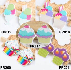 5 стилей смешанные кекс мороженое Flatback смолы плоскостной DIY ремесло украшения смолы кабошон украшения дома аксессуары
