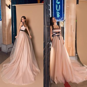 Blush Pink A Line Prom Dresses Simple Tulle morbido arabo Abiti da sera Plus Size Formale Party Dress Custom Made