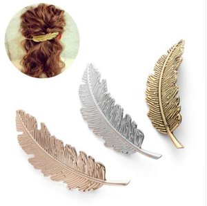 NEW Fashion 1PC Christmas Gifts Hair Accessories Hair Ornament Party Decoration Women Fashion Leaf Feather Hair Clip Hairpin