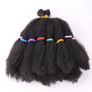 """Moda Mega Afro Kinky büküm Sentetik Saç 22 """"Siyah Kadınlar Için Tığ Örgü Saç Saç Uzantıları"""