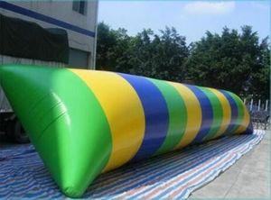 شحن مجاني 7 * 3 متر 0.9 ملليمتر pvc نفخ فقاعة الماء القفز لعب المياه blob القفز كيس نفخ أكوا tramplione شحن مضخة