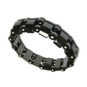 NEW Mens Healing Black Magnetic Hematite stone Beads Bracelets Fashion Black Magnetic Hematite Beads Bracelet Jewelry