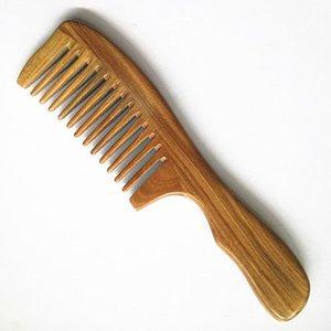 1 Adet El Yapımı Ahşap Sandal Ağacı Geniş Diş Ahşap Tarak Doğal Kafa Masaj Saç Combs Saç Bakımı Yeni