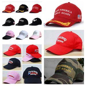 Amerika Büyük Tekrar yapmak Şapka Kap Nakış Trump Cumhuriyet Snapback Spor şapka Beyzbol Kapaklar ABD Bayrağı Mens Womens Moda Pembe Kap YL612