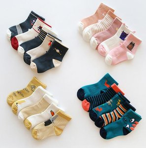 18 new autumn and winter cartoon children's socks cotton boys and girls socks baby socks free shipping