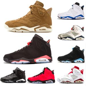 Nuovo 6 scarpe da basket Tinker Classic 6s Mens grano UNC nero blu bianco uomo a raggi infrarossi sTrainer porti sneakers Gatorade gatto nero alternato