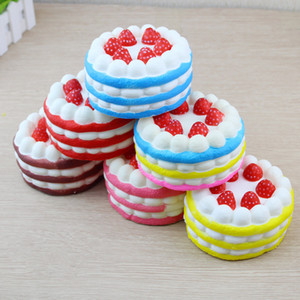 Pu 5 styles Squishy cakes Slow Rising Soft Squeeze Clear Phone gift Stress children Decline Access Toy Novelty Items T2I214