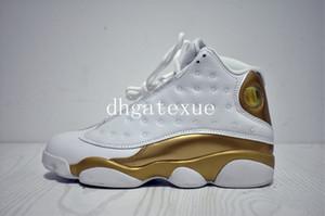 XIII DMP повседневная обувь мужская 13 DMP белые металлические золотые кроссовки размер нас 8-13 [с коробкой] бесплатная доставка