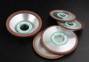 Freeshipping Diamond Grinding Wheel 100 * 10 * 16 * 5mm Disco abrasivo 150 180 Granos Diamond Wheel Pulido Abrasivo Herramientas 1 unid