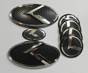 Spedizione gratuita 7 pz 3D black carbon K Emblem per KIA nuovo Forte YD K3 2014-2015 / auto emblemi / 3D adesivo