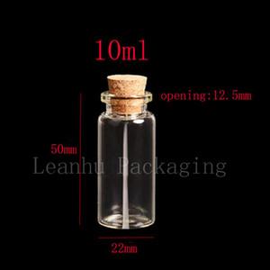 10ml X 50 Kork Glas Fläschchen, klare leere Glasflasche mit Holz Kork, 10cc Korked Stopper Fläschchen, DIY, die Mini-Glasflaschen wünschen