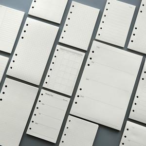 45 levhalar 100g DIY spiral defter kağıt doldurur A5 A6 haftalık aylık dergisi kağıtları ekose onay boş noktalar kaplı