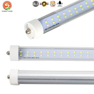 luz del tubo filas dobles de alta calidad LED FA8 R17D lámpara fluorescente del tubo T8 AC85-277V 8 pies 72W 384pcs tubo del LED lúmenes altos de luz