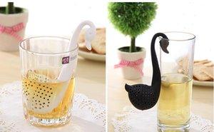 Yeni Nolvety Hediye Kuğu Kaşık Çay Süzgeç Demlik Çay Kaşığı Filtre Yaratıcı Plastik Çay Araçları Mutfak Aksesuarları DHL ücretsiz