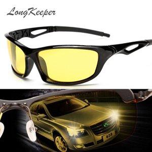 LongKeeper Night Vision Glasses Pour Phare Polarisé Conduite Lunettes De Soleil Yellow Lens UV400 Protection Nuit Lunettes Pour Conducteur