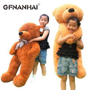 1 unid 100 cm 3 colores bebé lindo oso de peluche de juguete de peluche hermosa piel de oso con cremalleras muñecas para niños niños cumpleaños regalo de Navidad