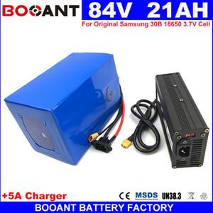 BOOANT 84V 20AH E-bike bateria de lítio para 18650 bateria 23S 7P bateria de bicicleta elétrica 2000 W + 5A carregador