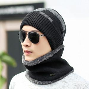 Hiver Europe et États-Unis, plus casquette en cachemire, casquette pour hommes, cache-oreilles en tricot carré