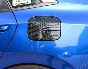 Guarnição do tampão de gás do óleo da tampa do depósito de gasolina da fibra do carbono para Honda Civic 10o 2016-2018