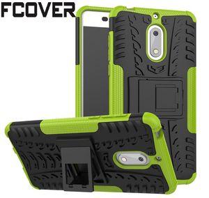 Para Nokia 4.2 2 3 4 5 6 8 / Nokia 3.2 / Nokia 2.2 Estuche rígido Híbrido TPU + Soporte de armadura de PC Carcasa protectora de silicona Cubierta trasera delgada del teléfono