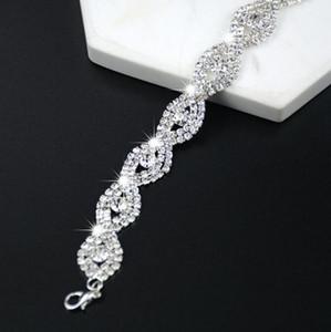 DHL Diamond Austrian Crystal Bracelet for Women Fashion Deluxe Elegant jewelry luxury Infinity Rhinestone Bangle party Gift nw