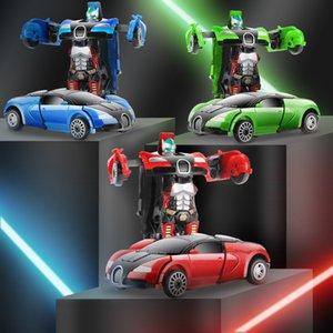 Мультфильм деформации робот деформации автомобиля игрушки лучшие подарки на День Рождения Коллекция мини-робот тянуть назад автомобиль