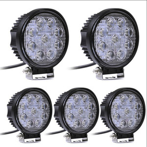 1 pz 12 V 24 V 27 W LED Car Work Light Bar Moto Lampade Spot LED Car Foglight per Off Road Per Jeep VW Toyota