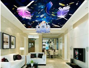 custom 3d ceiling european wallpaper Sun rainbow stars 3d wallpaper murals for bed room living room wallpaper 3d ceiling home decor