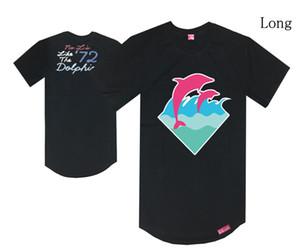 Rosa Delphin Sommer Marke Mode Print Kurzarm Herren viele Farben 100% Baumwolle langes T-Stück Diamant LK Pyrex T-Shirts