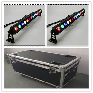 4 pezzi flightcase 14X30W wateroof LED Strip Bar Light LED parete esterna Wash led wall washer cob rgb