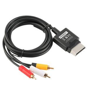 Freeshipping Горячий Новый 1.8 М Аудио Видео AV RCA Видео Композитный Кабель Шнур Для Xbox 360 Тонкий GamePad Горячий Продавать