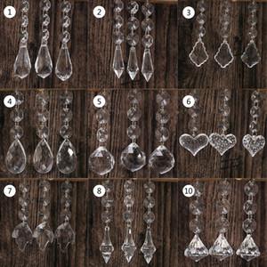 10pcs Acrylique Perles De Cristal Goutte Forme Guirlande Lustre Suspendu Décoration De Partie De Mariage Décoration Centres Pour Tables