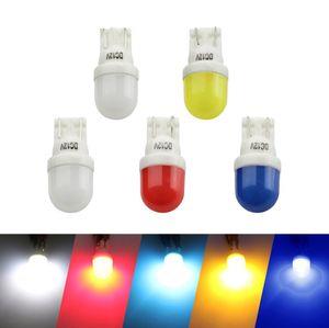 T10 W5W 194 168 Araba LED Işıkları Seramik beyaz kırmızı mavi sarı Kapı Yan Ampul Oto Araba Kama Işık 2SMD 5730 Lambaları 1 adet