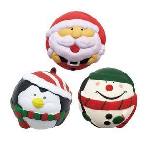 새로운 산타 눈사람 펭귄 느린 리바운드 퀴시 튀는 공 스트레스 어린이 장난감 선물 펜던트 장식 장난감 벤트 압축 해제