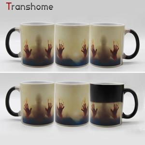 Ev Bar Yürüyüş Ölü Renk Değiştirme Kahve Kupa 350 ml Kanlı Eller Tasarım Isıya Duyarlı Sihirli Kahve Kupalar hediyeler Sağ Fincan