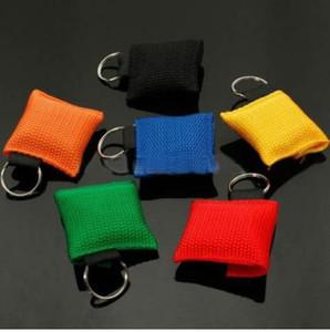 Портативный CPR Mask Keychain Safty Аварийная защитная сумка для лица