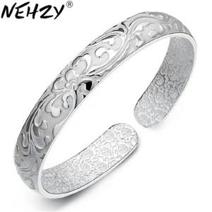 intera venditaFine 990 braccialetto d'argento braccialetto modelli femminili in fiore millepiedi in fiore all'ingrosso