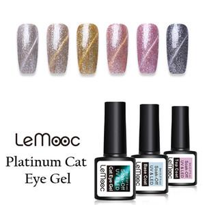 LEMOOC 8 ml Platin Magnetische Cat Eye Gel Nagellack Glitter Pailletten Gel Lack Tränken weg von UV Nail art Polish