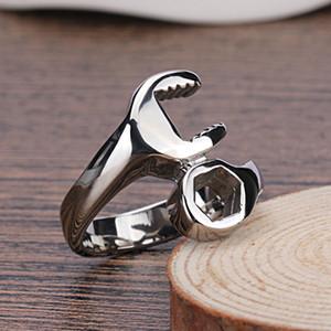 Cool Fashion deux couleurs Mechanic Biker Clé hommes en acier inoxydable anneaux style punk anneaux pour les hommes Vente chaude