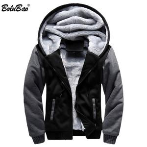 BOLUBAO Men Hoodies Jacket 2018  Winter Thick Warm Fleece Zipper Coat for Mens Sport Wear Tracksuit Male Hoodies