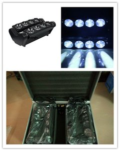2 Stück mit Flightcase Spider Beam Weiß Moving Beam LED Spider Light 8x10W Weiß LED Spider Light